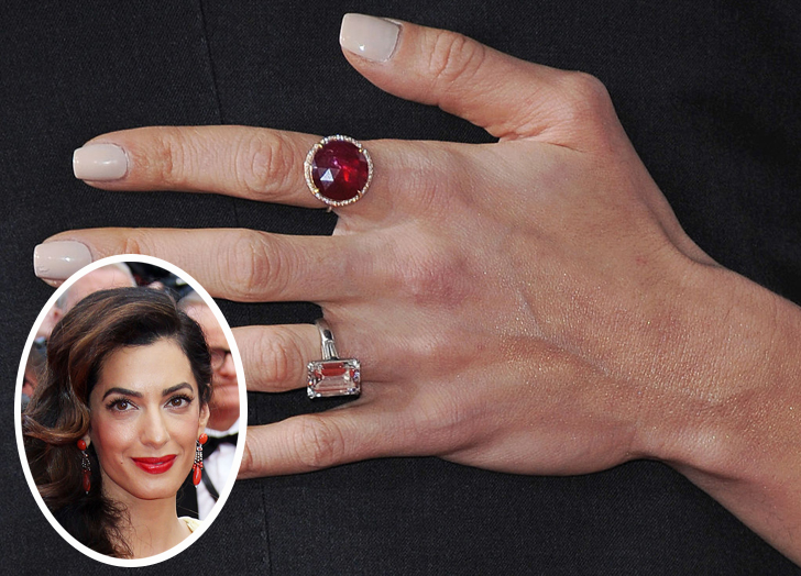 Amal Clooney Engagement Ring Midway Media