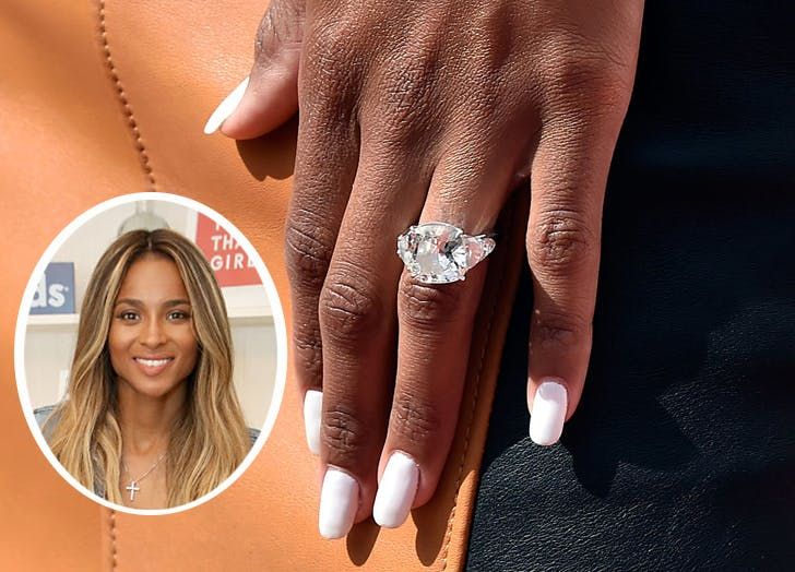 Best celebrity engagement rings purewow ring ciara1 junglespirit Images