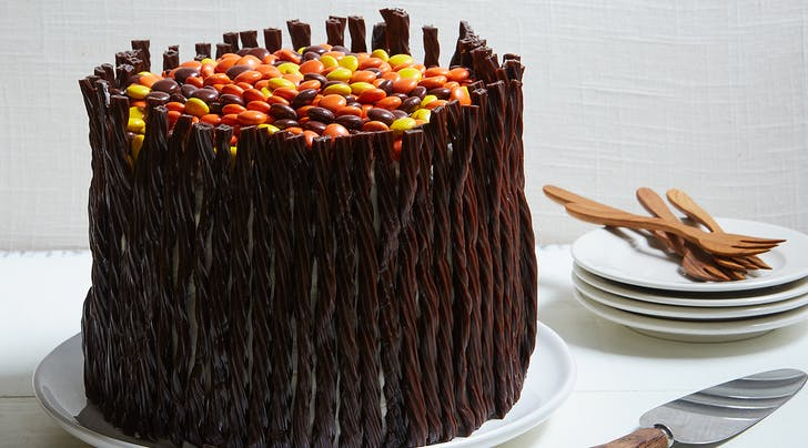 Twizzlers Twists and Reese's Pieces Peanut Butter Cake