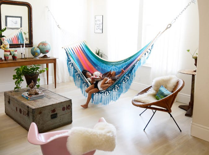 The Indoor Hammock Is the Greatest Thing to Happen to Lazy Days