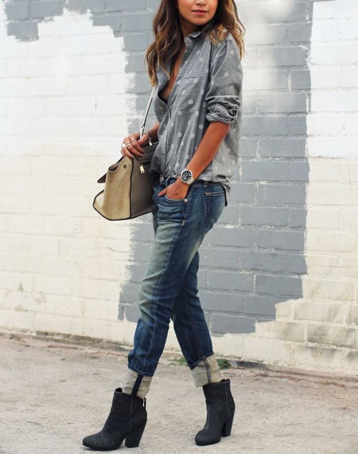 how to wear ankle boots with jeans purewow