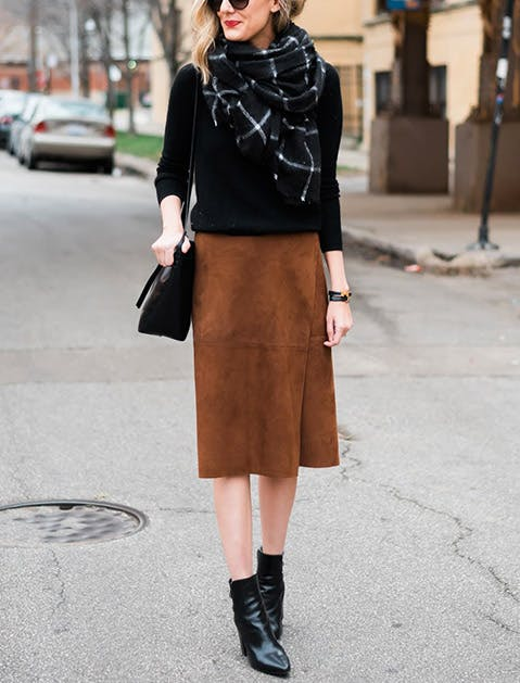 How to Wear Ankle Boots with Skirts - PureWow