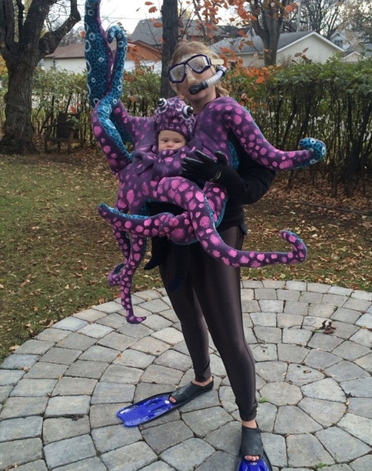 Octopus and Scuba Diver & The Cutest Parent and Child Halloween Costumes - PureWow