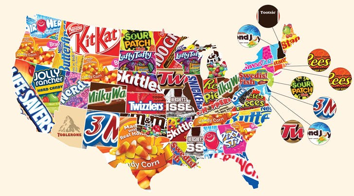 Favorite Candy in Each State