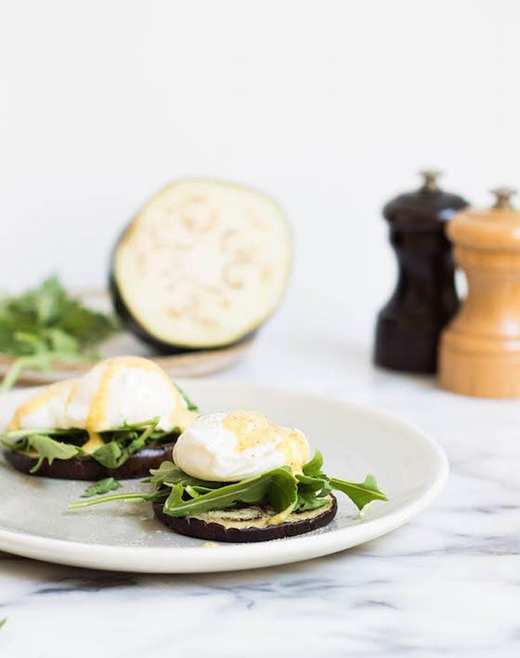 eggplant benedict