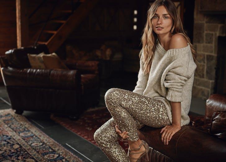 ralph lauren holiday sequined pants