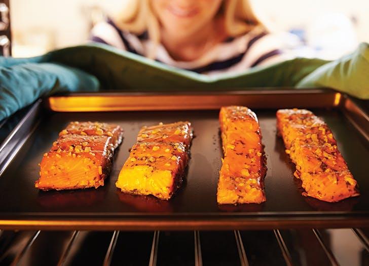 salmon oven rack