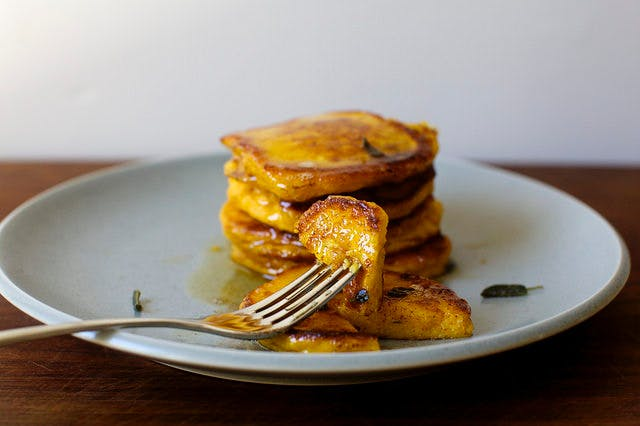 winter squash pancakse