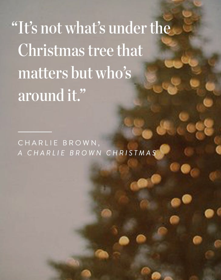 its not whats under the christmas tree that matters but whos around it charlie brown a charlie brown christmas
