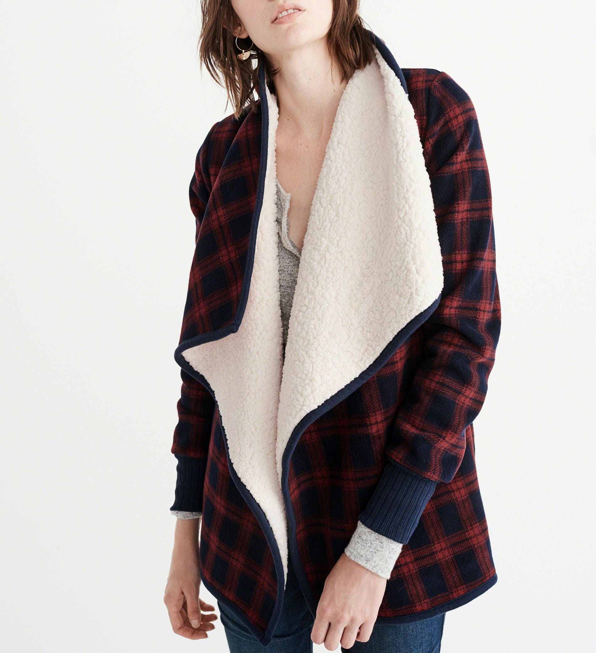 abercrombie plaid shearling dallas winter jackets