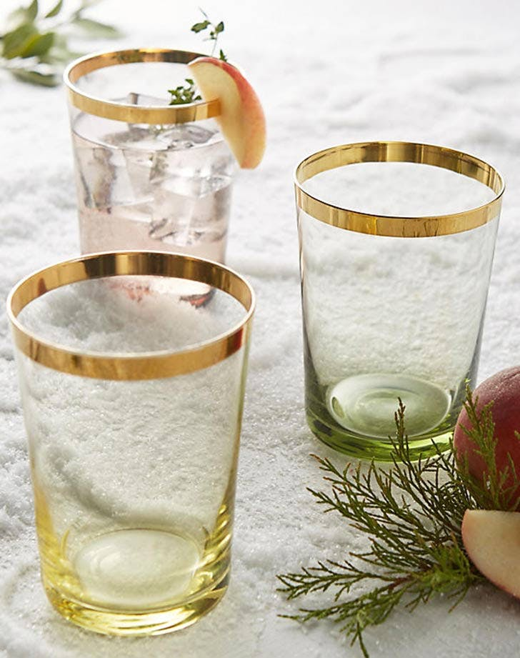 anthropologie gold dipped tumblers 728