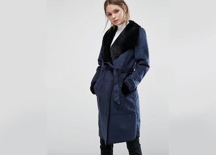 asos shearling coat NY 728