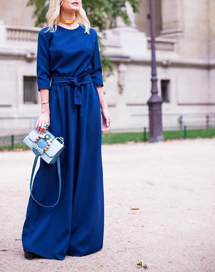 blue wide leg jumpsuit NY 728