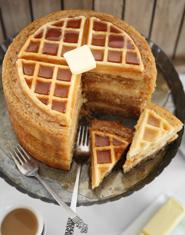 dessert mashups wafflecake