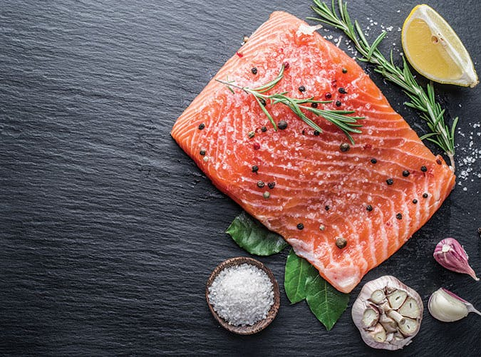 filling foods salmon