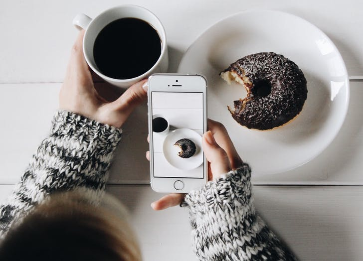 instagram doughnut coffee