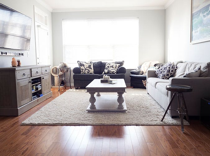 living room mistakes big rug