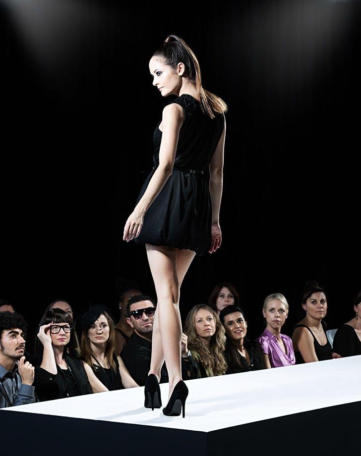 model runway high heels