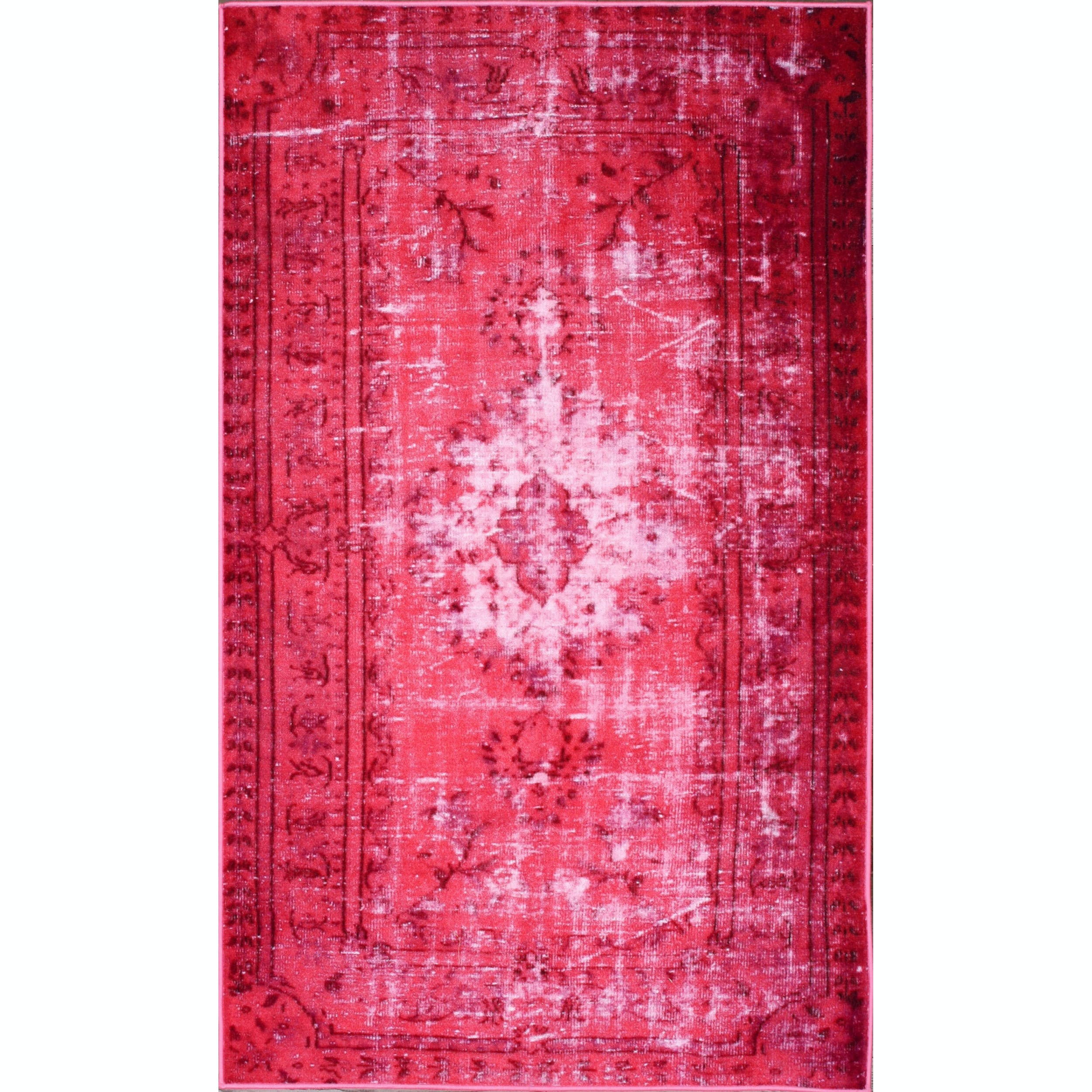 nuLOOM Vintage Inspired Adileh Overdyed Pink Rug 4 x 6 2b962494 ee03 4a10 aeac 4d395a896339