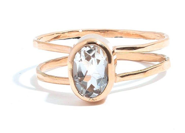 rings topaz