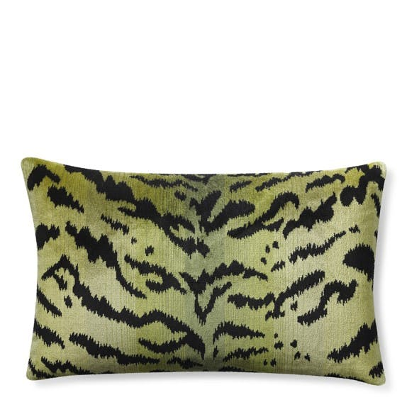 scalamandre tiger pillow cover green c