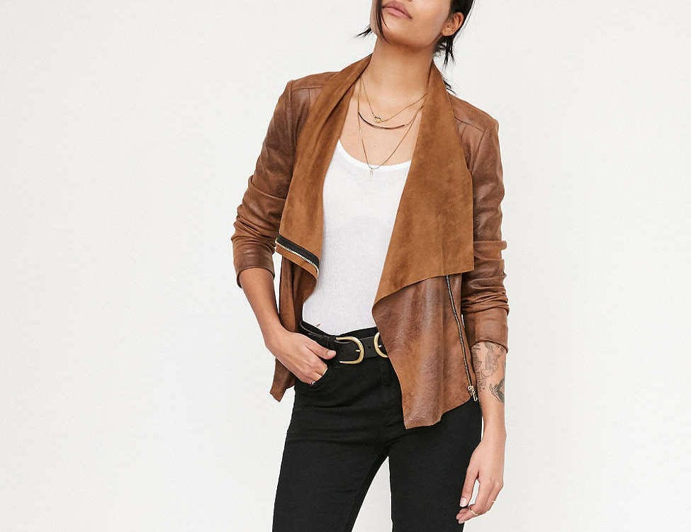 silence   noise urban outfitters faux leather moto dallas winter jackets
