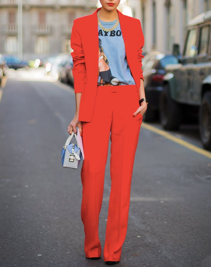 tshirt red pansuit