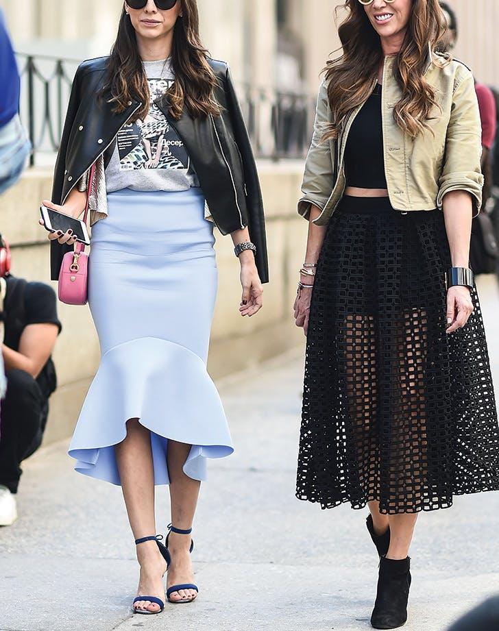 tshirt moto pencil skirt