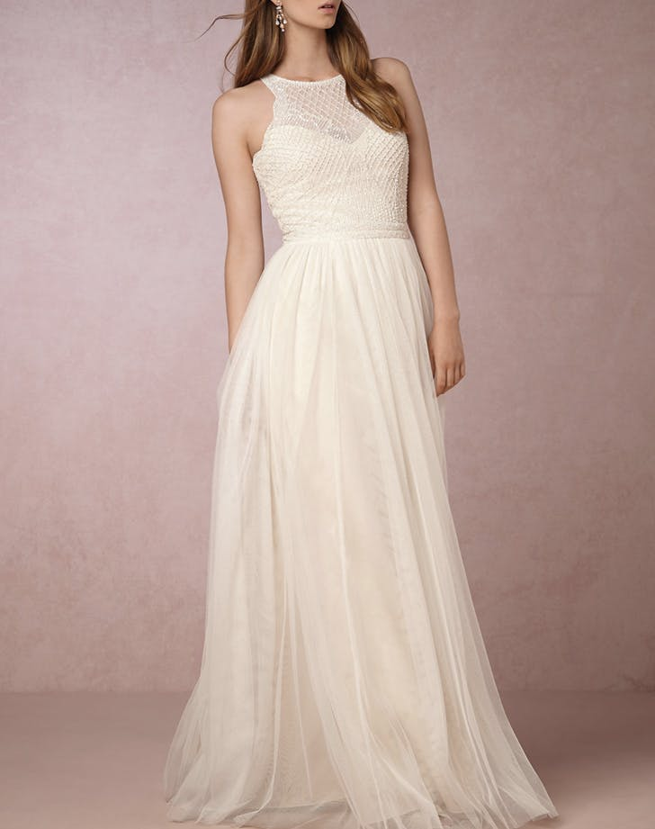 wedding dress etoile high neck