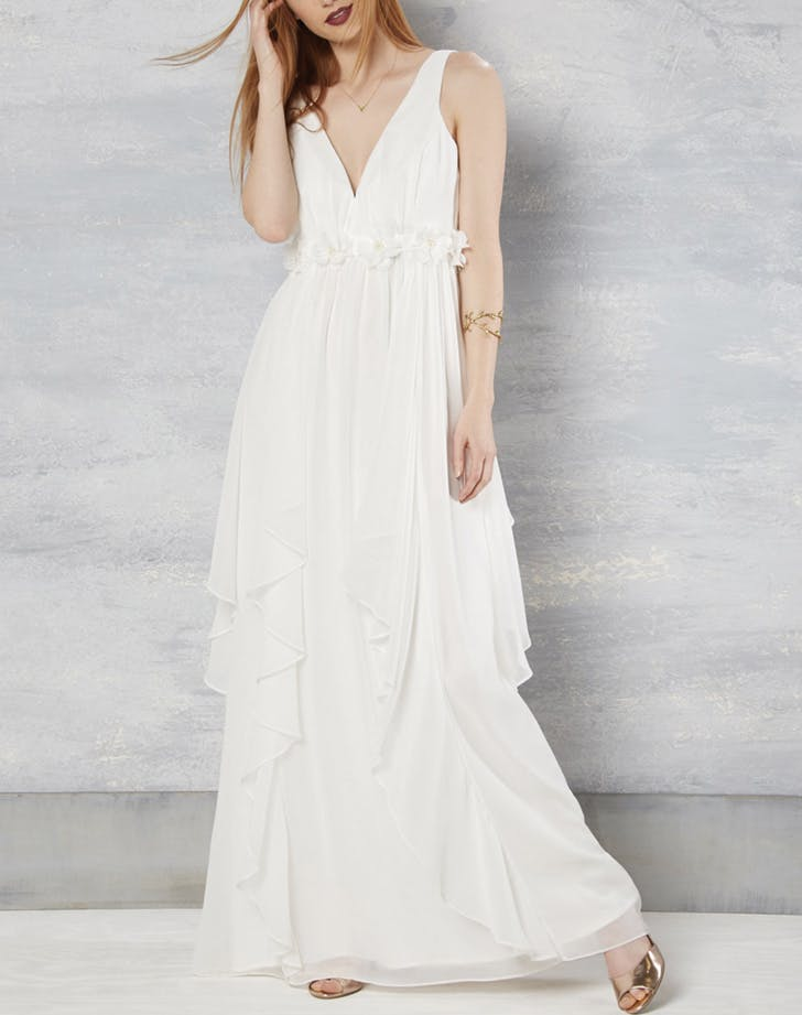 wedding dress grecian modcloth