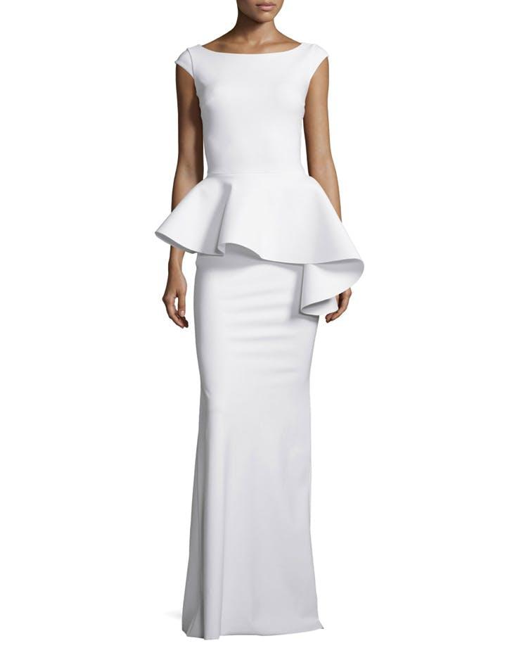 wedding dress peplum