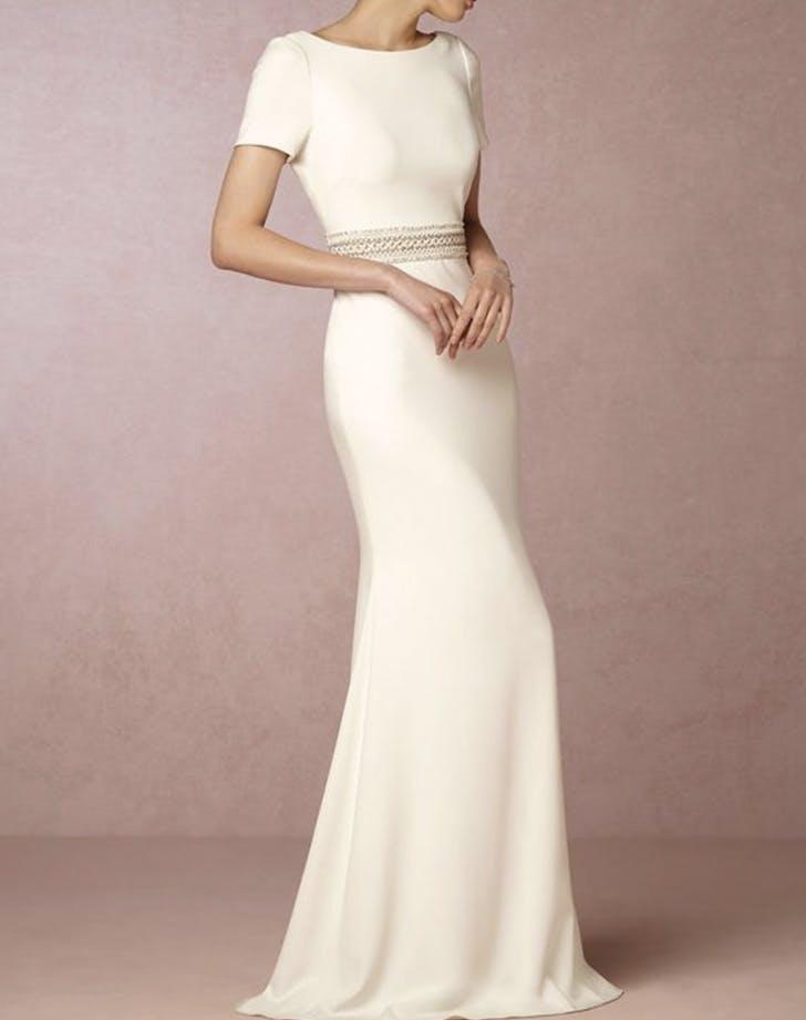 wedding dress shortsleeve bhldn