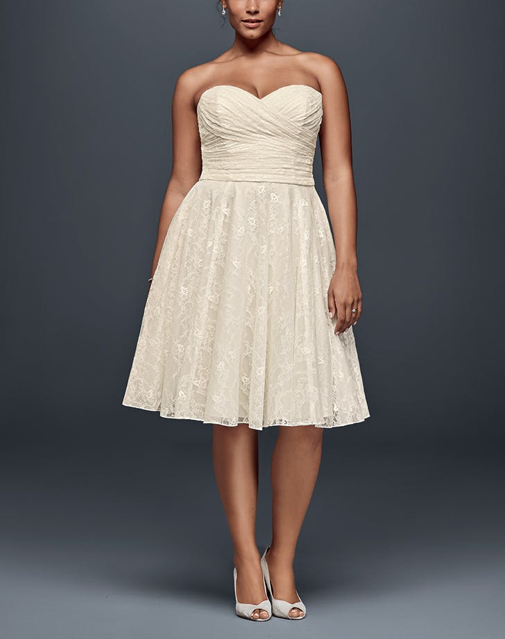 wedding dress tea length davids bridal