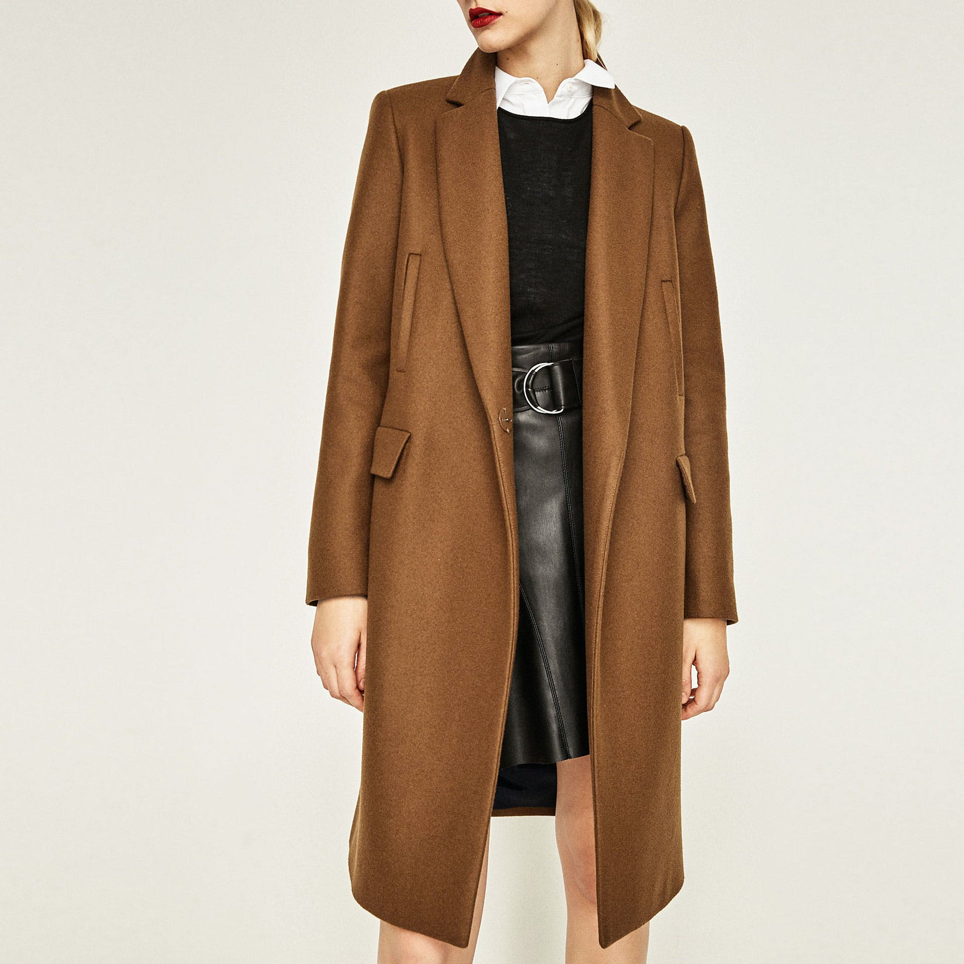 zara brown duster dallas winter jackets1