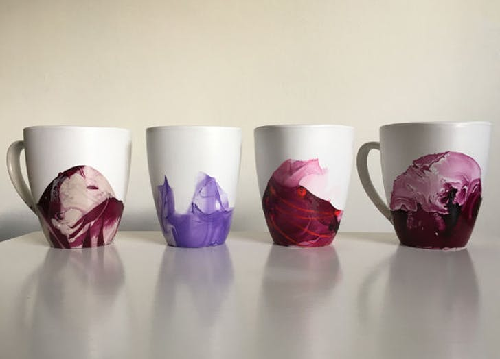 DIYgifts marbledmugs