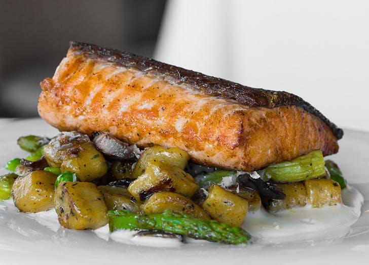Salmon restaurant order