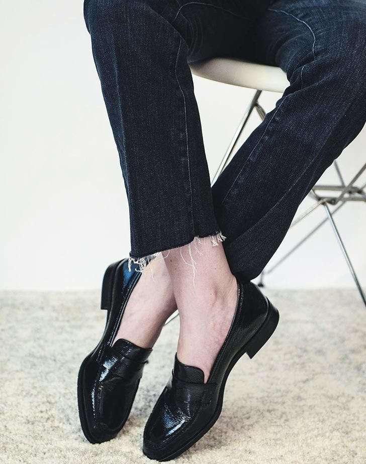 aquatalia sharon patent leather loafers
