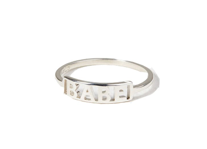 babe ring on white