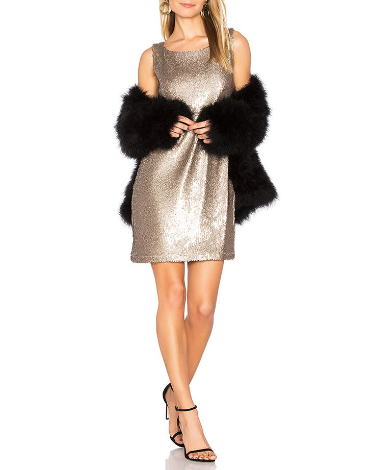 bb dakota gold nye dress