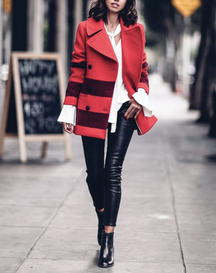 bell sleeves leather jacket