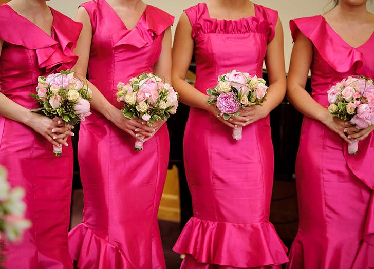 bridesmaid social media pink dresses