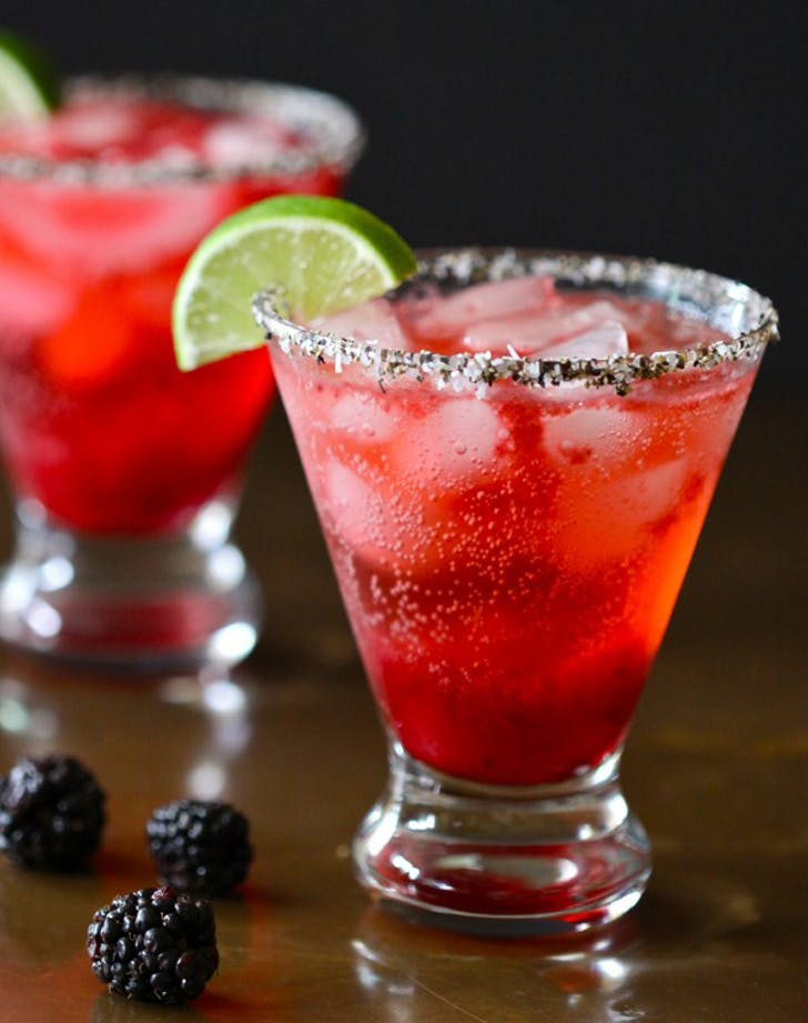 champagne cocktails blackberry martini