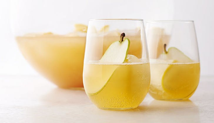 champagne cocktails pear punch