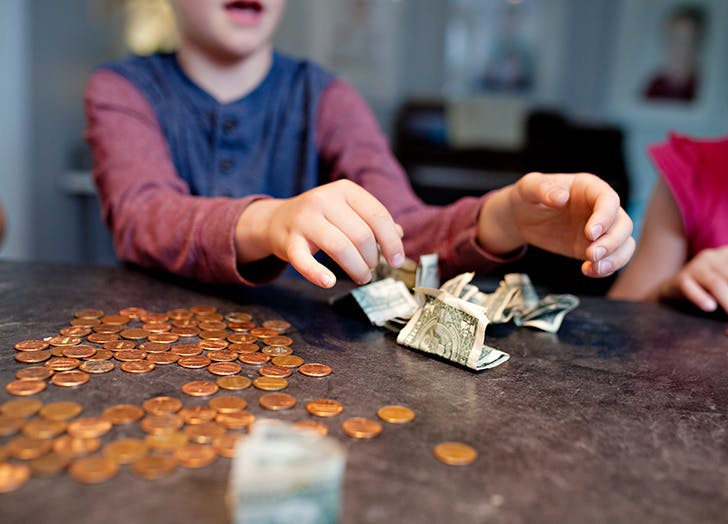 children money pennies
