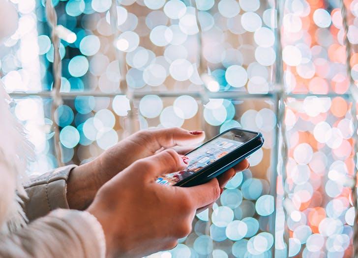 christmas social media texting