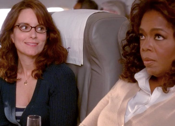 first class upgrade tina fey oprah