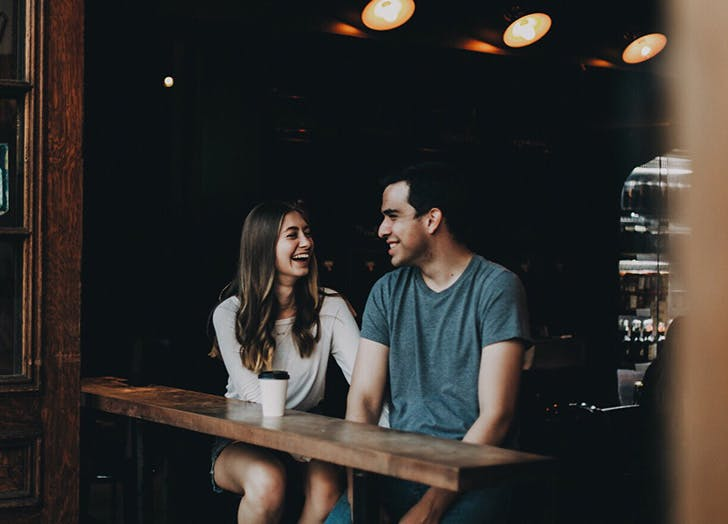 first date rules couple laughing