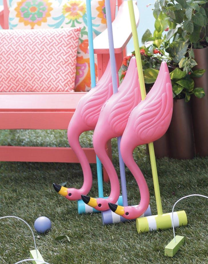 flamingo decor croquet