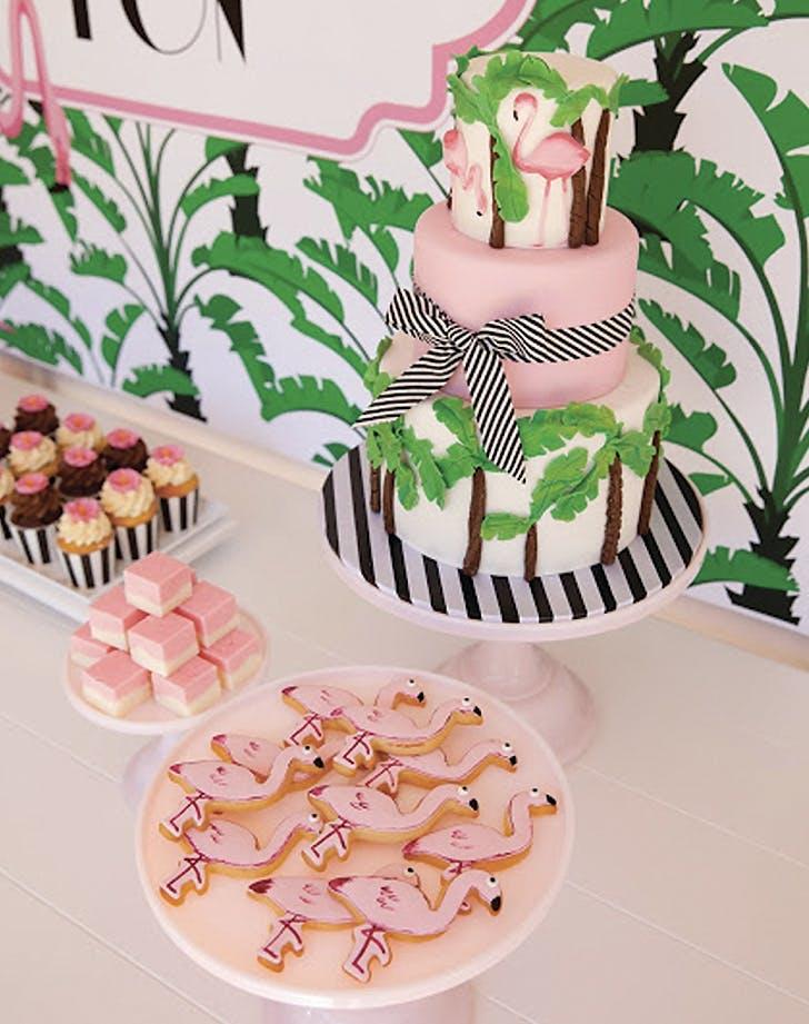 flamingo decor stripes