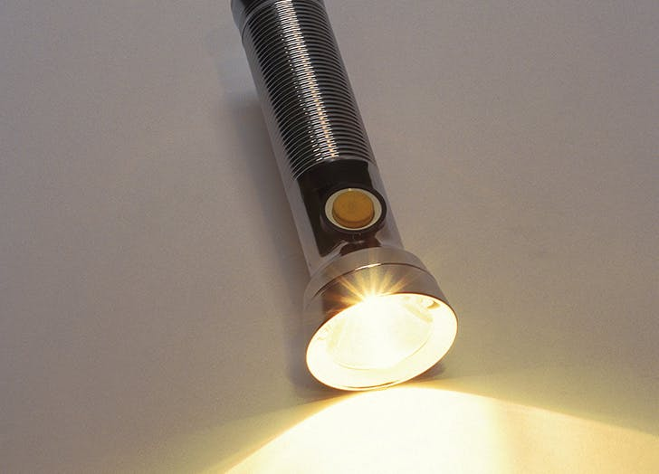 flashlight undersink toss
